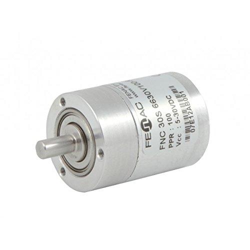 5mm Solid Shaft 2m Cable 6 Channel Servo Flange 1000 PPR Fenac FNC 30S 5630V1000-A2 Incremental Encoder 30mm Body Diameter 5-30V in//Out