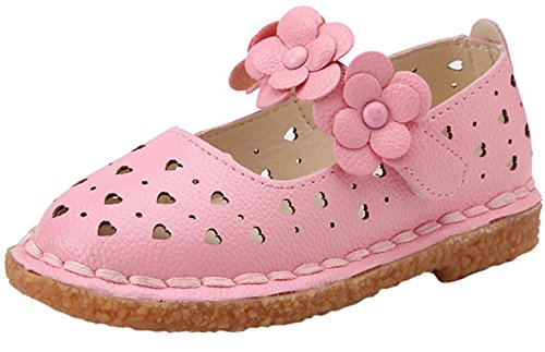 ppxid-toddler-little-girls-flowers-skidproof-velcro-princess-shoes-pink-25-us-size