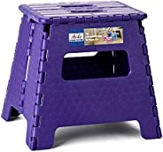 Acko Folding Step Stool - 13 inch Height Premium Heavy Duty Foldable Stool for Kids & Adults, Kitchen Gard