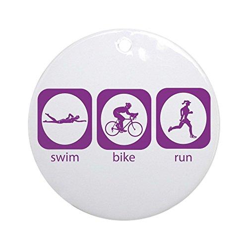 CafePress - Swim Bike Run Ornament (Round) - Round Holiday Christmas - Swim Run Bike Kona
