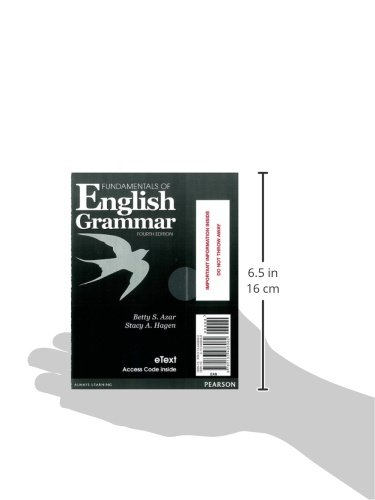 Fundamentals of English Grammar eTEXT with Audio; without Answer Key (Access Card) (4th Edition)