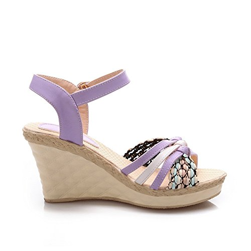Donna 35 Eu purple Viola Ballerine Balamasa 7nxHq5PwH