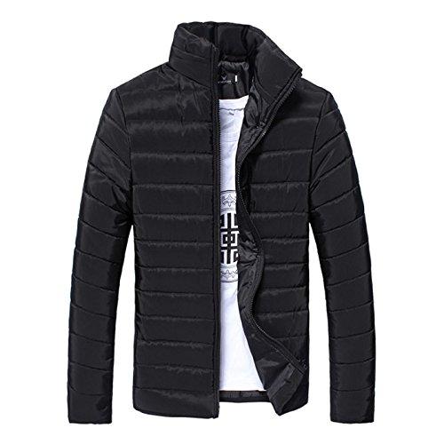 Da 3xl Libero Cotone inverno Collare Imbottito Moda Nero Giubbotto Per Hhy Sottile Il Tempo Uomo PI11F