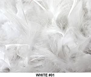 Over 50 Different Solid Color Feather Boas by Cozy Glamour 6 Feet Long 50 Gram Weight (white #01)