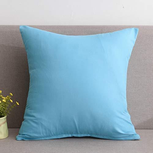 CSJY Funda de cojín de Color sólido Europeo para sofá ...