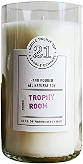 product image for Circle 21 Candles Trophy Room Scented Soy Candle, Clear