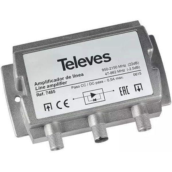 Televes 7485 - Amplificador fi 20db vs95 con paso terrestre ...