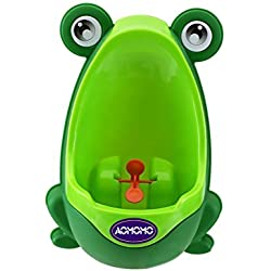 AOMOMOÃ'ÂLovely Frog Baby Toilet Training Children Potty Urinal Pee Trainer Urine For Boys with Funny Aiming Target (Green) by AOMOMO