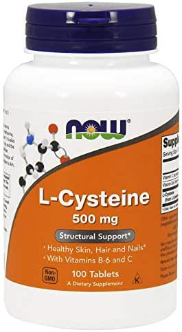 Now Supplements, L-Cysteine 500 mg with Vitamins B-6 and C, 100 Tablets