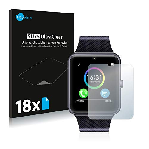 Savvies 18x Schutzfolie kompatibel mit Willful SW016 Displayschutz-Folie Ultra-transparent