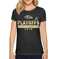 Keve Jam Womens Shirts O Neck Short Sleeve Cotton Black T Shirts
