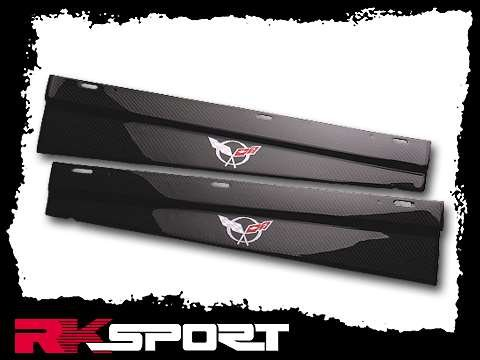 RKSport Chevy 04045008 C5 Door Sills - Carbon Fiber With Silver C5 Logo, 1997-2004 Chevy Corvette Chevy Corvette Carbon Fiber