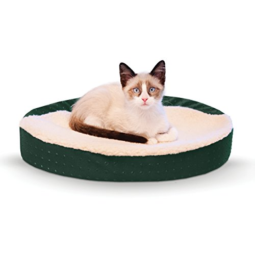 K&H Pet Products Ultra Memory Oval Cuddle Nest Memory Foam Pet Bed Green 13