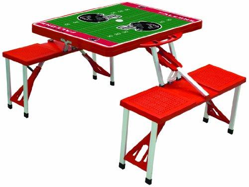 NFL Atlanta Falcons Football Field Design Portable Folding Table/Seats, Red