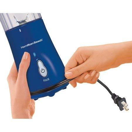 Single Serve Blender With Travel Lid | Model# 51132, Makes Great Smoothies, Dark Blue