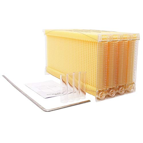 Changhe Automatic Flow Beehive 4pcs Honey Flow Frame Super Box Free Flow Frame (4 Flow Frame Set only) by Changhe (Image #1)