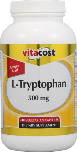 Vitacost L-Tryptophan -- 500 mg - 240 Vegetarian Capsules by Vitacost Brand