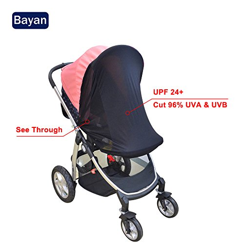 Stroller Sunshade - Bayan Stroller Sunshade Baby Car Seat Sun Shade Cover-Effective UV Rays Cut Design-Blocks 95.76% UVA and 95.87% UVB