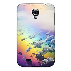 Awesome Rainbow Flip Case With Fashion Design For Galaxy S4