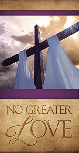 Easter Series No Greater Love Canvas Worship Banner, 6 Foot