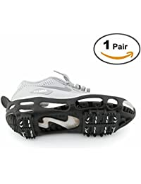 Shoe Ice Cleats 24 Teeth Ice Grippers 10 Teeth Cleats Shoes Designed for Walk on Ice Snow And Freezing Mud Ground Must Have Accessories for Outdoor Sports Activity Accessory