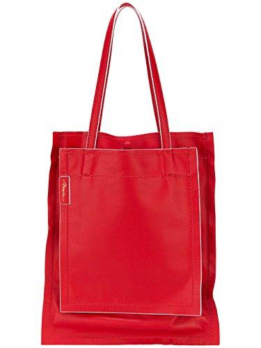 3.1 Phillip Lim Mujer AE18B058SFMSC601 Rojo Cuero Bolso Tipo Shopper