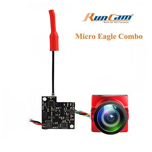 Crazepony RunCam Micro Eagle FPV Camera 800TVL NTSC/PAL with TX200U Transmitter 1S 3.5-5.5v 5.8G 48CH 25/200mW for Racing Drone Quadcopter by Crazepony