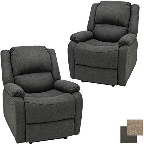 RecPro Charles Collection 30 Zero Wall RV Recliner Wall Hugger Recliner RV Living Room Slideout Chair RV Furniture RV Chair Cloth 2 Chairs, Fossil