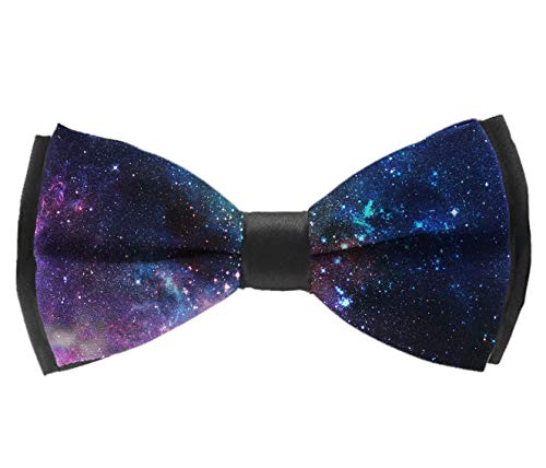 - boys Elegant Pre-Tied bow ties, Outer Space Galaxy Stary Polyester Formal Butterfly Bow Tie Adjustable School Uniform Accessories Butterfly Bow Tie for Fun Occasions