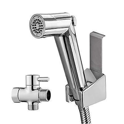 ANZA Handheld Bidet Sprayer Set -Premium Water Shattaf – Baby Shower Cloth Diaper Spray Attachment – Toilet Cleaner – Pressure Control