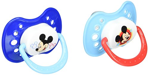 2 Pack Orthodontic Pacifier Set (Mouse Latex)
