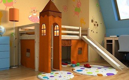 Letto A Castello Bambini 4 Anni.Letto Per Bambini Con Scivolo Cameratta Bambino Letto Letto A Castello Materasso