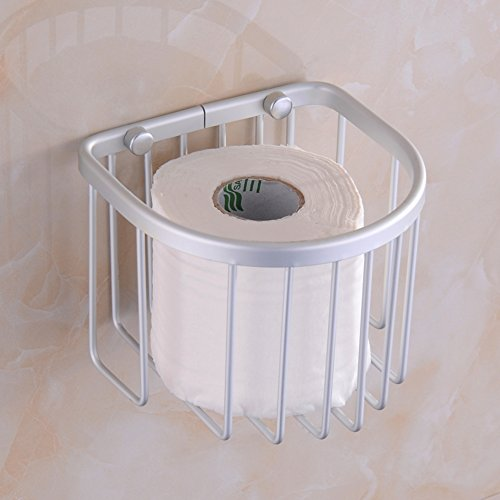 - Toilet Paper Towel Basket Space Aluminum Increased Waste Basket Scroll Box Tissues Holder Toilet Tray-A