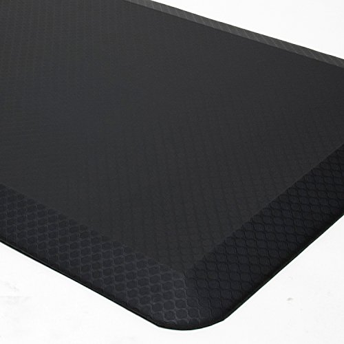 """Premium Anti Fatigue Mat, 20"""" x 39"""" x 3/4"""", Non-Toxic, Perfect for Standup, Standing Desk, Kitchen Floor and Garage, Commercial Grade, Extra Comfortable (Black)"""