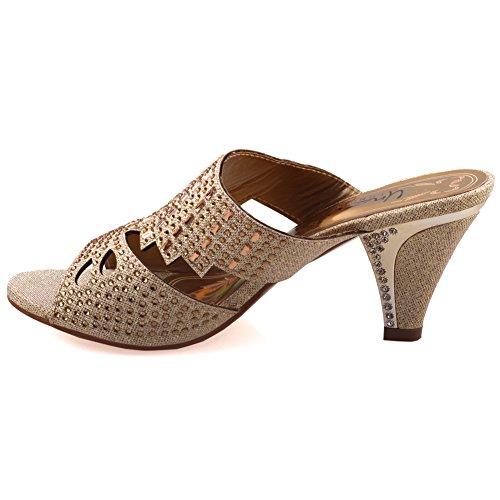 Mode Slipons Femmes Mode Femmes Unze Slipons Sandales Sandales Unze Or Candice ' de de Awftxzqf0