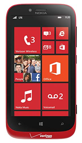 (Nokia Lumia 822, Red 16GB (Verizon Wireless) (Certified Refurbished))