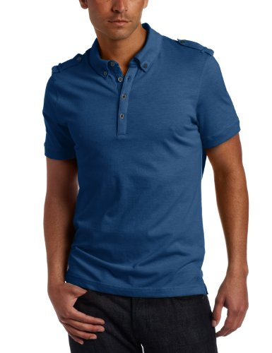 Kenneth Cole New York Men's Polo With Epaulettes