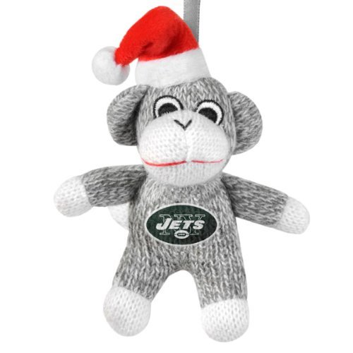 New York Jets Sock Monkey Ornament