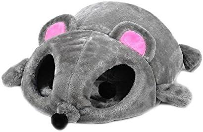 Unbekannt Gato Cojín Cama Gato Cueva Gato Mascota de Cojín de Ratón Manta Gris