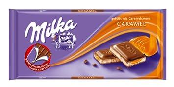 Amazon.com : Milka Milk Chocolate with Caramel Filling 100 g ...