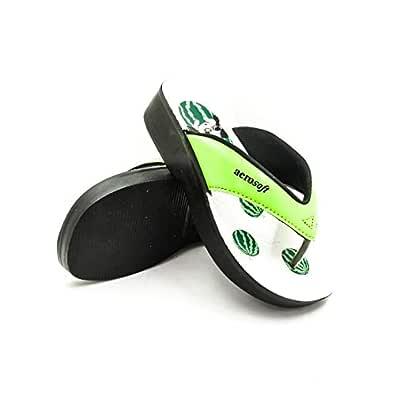 Aerosoft Green Thong Slipper For Girls