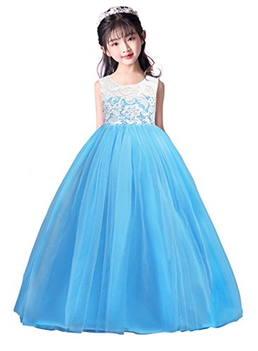 dressfan Princess Girls Tulle Dresses Flower Lace Pageant for sale  Delivered anywhere in Canada