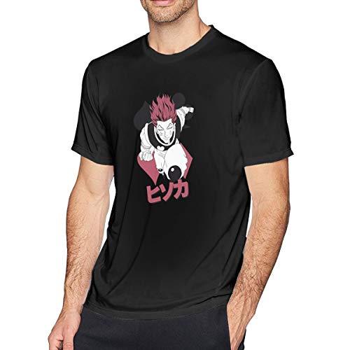 MYaige Hunter X Hunter Classic Short Sleeve O-Neck Shirt Tee for Men Black S