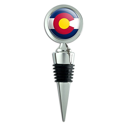 (Colorado State Flag Wine Bottle)
