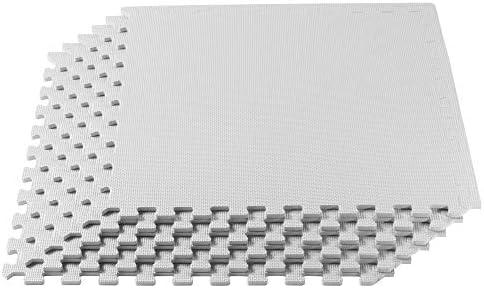 6 Tiles We Sell Mats 24BK1-10M Foam Interlocking Floor Square Tiles Black