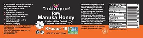 Wedderspoon Raw Premium Manuka Honey KFactor 16, 8.8 Oz, Unpasteurized, Genuine New Zealand Honey, Multi-Functional, Non-GMO Superfood by Wedderspoon (Image #1)