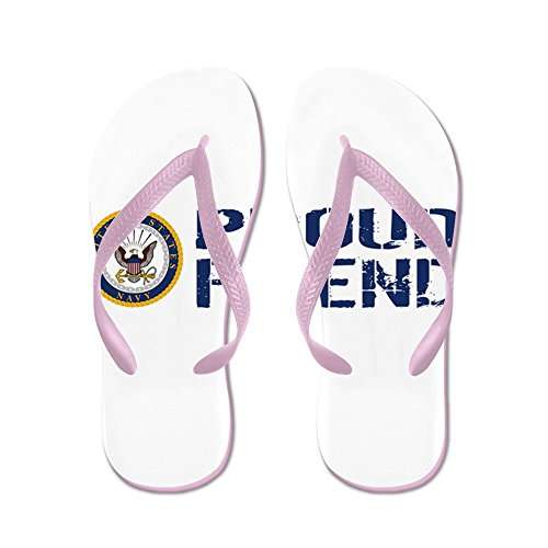 CafePress U.S. Navy: Proud Friend (Blue & White) - Flip Flops, Funny Thong Sandals, Beach Sandals