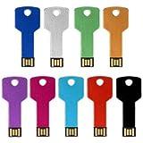 Las unidades flash - TOOGOO(R)32GB metal forma de la llave USB2.0 Las unidades flash