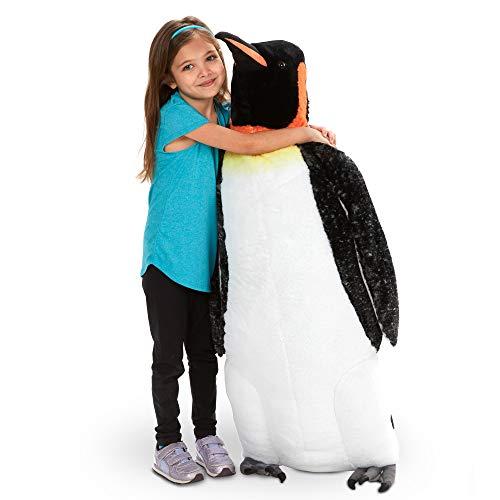 Melissa & Doug Giant Emperor Penguin Plush Stuffed Animal (Lifelike, 3.4 Feet Tall), Multi
