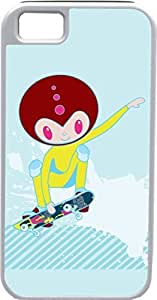 THYde iPhone 5c Cases Customized Gifts Cover Alien skating on skateboard Design ending